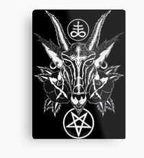 Baphoment and Satanic Symbols - Art By Kev G Metal Print