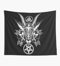 Baphoment and Satanic Symbols Wall Tapestry