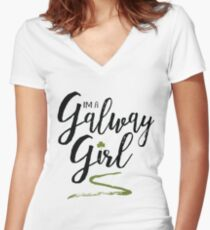 I'm a Galway Girl Women's Fitted V-Neck T-Shirt