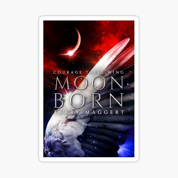 YA Fantasy Cover Art: Moonborn Sticker
