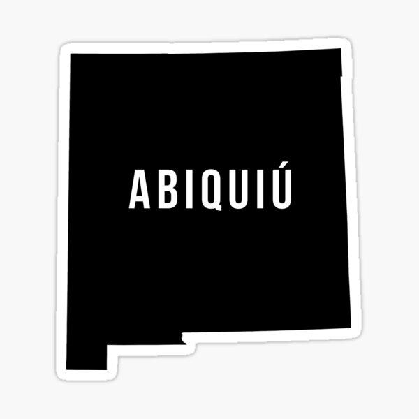 Abiquiu, New Mexico Silhouette Sticker