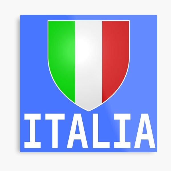 ITALIA Flag T-shirt 2016 Italian Tee Italy Men Women Kids Metal Print