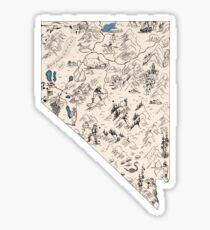 Pegatina Mapa de la imagen de Nevada Vintage