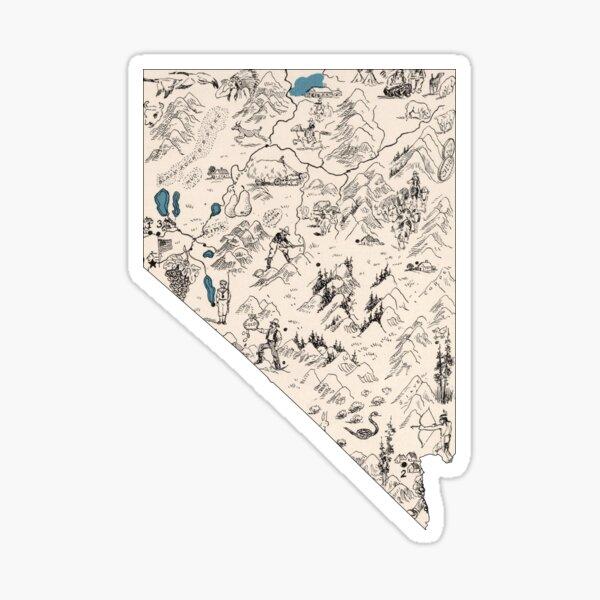 Nevada Vintage Picture Map Sticker