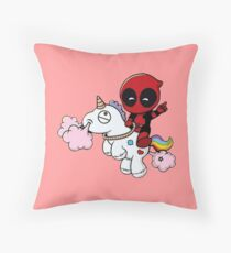 deadpool - ponny Throw Pillow