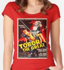 Vintage poster - Tobor the Great Women's Fitted Scoop T-Shirt