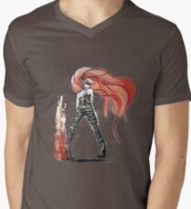 Rainbow Punk: Flame Funk Mens V-Neck T-Shirt