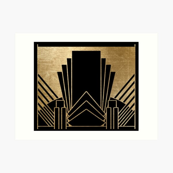 Art deco design Art Print