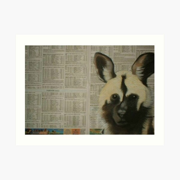 Arican Wild Dog - Engangered Species Art Print