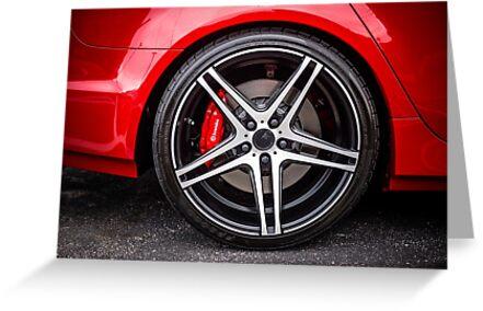 Sports Car wheel by AT-Photo