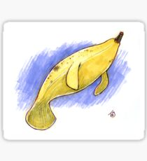 A quirky pun of the sea - The Bananatee! Sticker