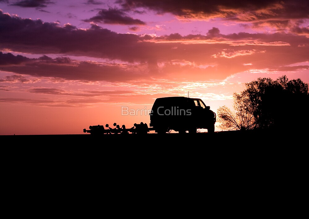 We forgot the boat! Who cares, just look at the sunset! by Barrie Collins