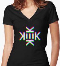 KEK Women's Fitted V-Neck T-Shirt