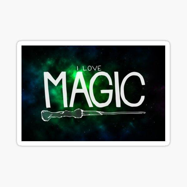 I Love Magic - Galaxy Edition Sticker
