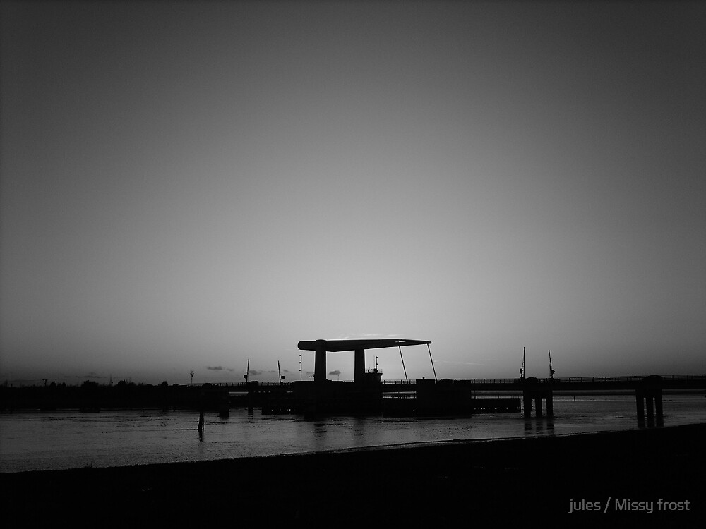 The bridge on the wash. Great Yarmouth in England. by jules / Missy frost