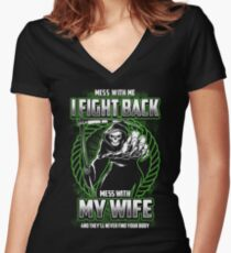 My Sweet Wife - Design 2017 Women's Fitted V-Neck T-Shirt
