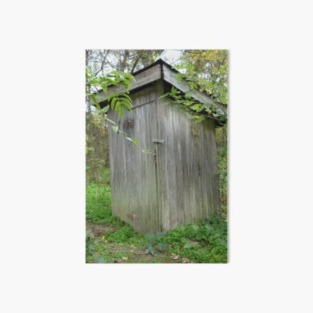 Grandma's Outhouse Art Board Print