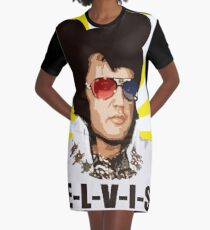 Elvis Sees and Hears You Graphic T-Shirt Dress