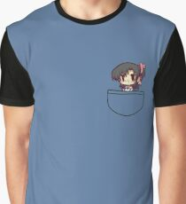 Anime Girl In Pocket Graphic T-Shirt