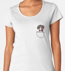 Anime Girl In Pocket Women's Premium T-Shirt