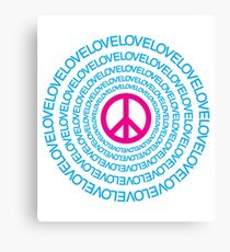 Republic of Peace: Peace and Love  Canvas Print