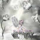 Pedistal Angel by BrokenWings