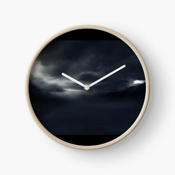 Dark Landscape (Digital Landscape Illustration.) Clock