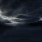 Dark Landscape (Digital Landscape Illustration.) by Grant Wilson