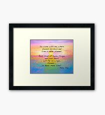 Come Fly with Me to Neverland Framed Print