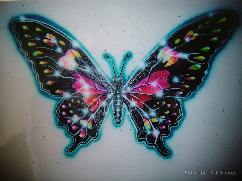 butterfly mural by Airbrushr  Rick Shores