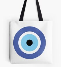 Evil Eye Pattern in Blue Tote Bag