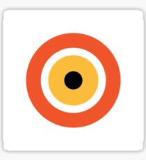 Evil Eye Pattern in Orange Sticker