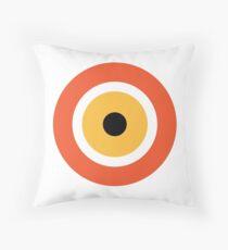 Evil Eye Pattern in Orange Throw Pillow