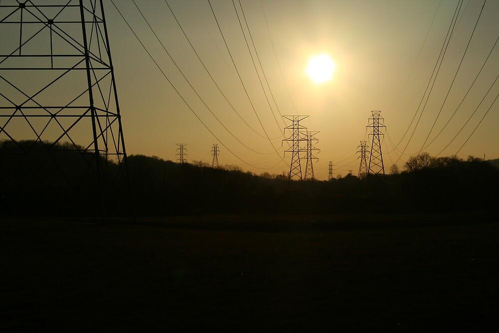 A POWERFUL SUNSET by wayne6043