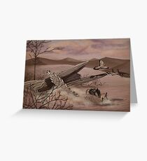 Velociraptor Greeting Card