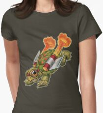 Rocket Tortoise! Womens Fitted T-Shirt