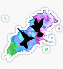 Ineffable Hummingbirds Sticker