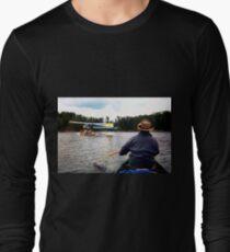 Paddling Toward the Beaver Long Sleeve T-Shirt