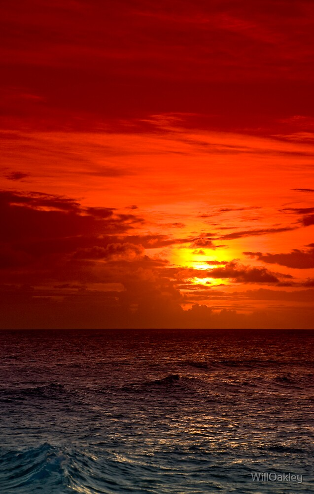 Red Sunset Sea by WillOakley