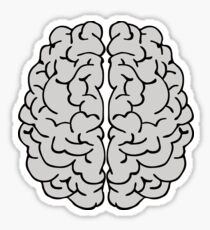 Brain Pattern Abstract Art Sticker