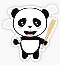 Panda Baseball Player with Ball R99m1 Sticker