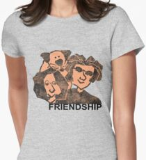 PEOPLE #friendship #forever Womens Fitted T-Shirt