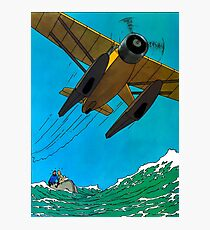 Tintin Airplane Print Photographic Print