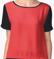 Neon Color - Brilliant Red Chiffon Top