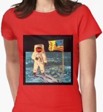 Moon Walk - Andy Warhol Womens Fitted T-Shirt