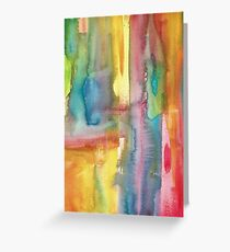 Watercolour Abstract Greeting Card