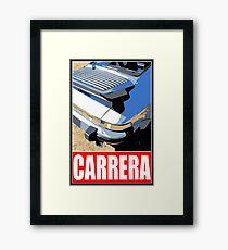 Porsche Carrera - Rear Framed Print