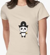 Panda Pirate with Gold Rl9ai Womens Fitted T-Shirt