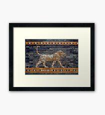 Mosiac Lion Framed Print