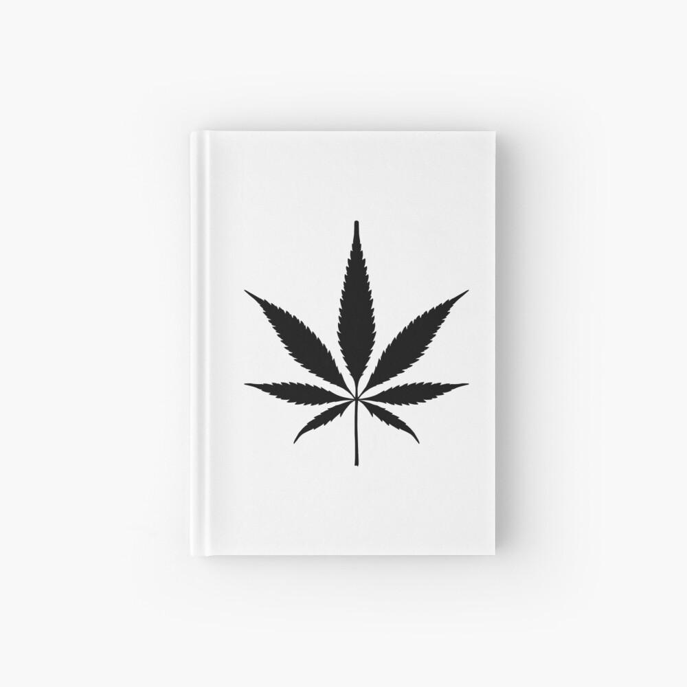 Cannabis leaf Hardcover Journal